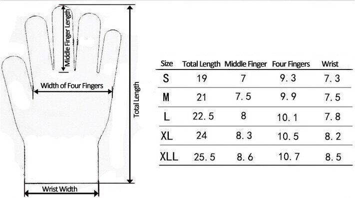 Gloves Size